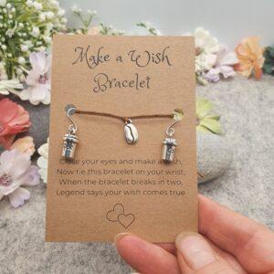 Coffee Bracelet & Earrings Set