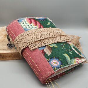 Pink & Green, Shabby Chic, Handmade Junk Journal