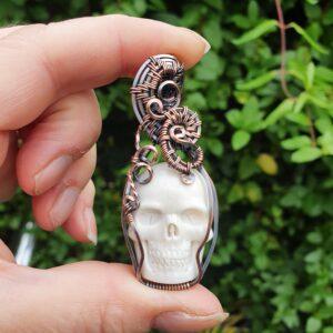 White Skull Pendant